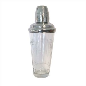 Princess House Aston Etched Glass Cocktail Shaker